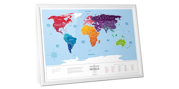 Нужна карта мира для ваших путешествий? Как на счет скретч-карты мира Travel Map?