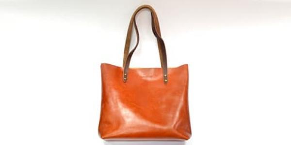 Стильная кожаная сумка-шоппер