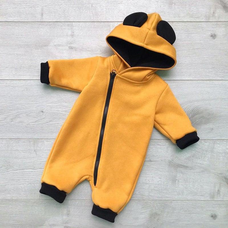 Дитячий трикотажний комбінезон Mickey Mouse orange jersey