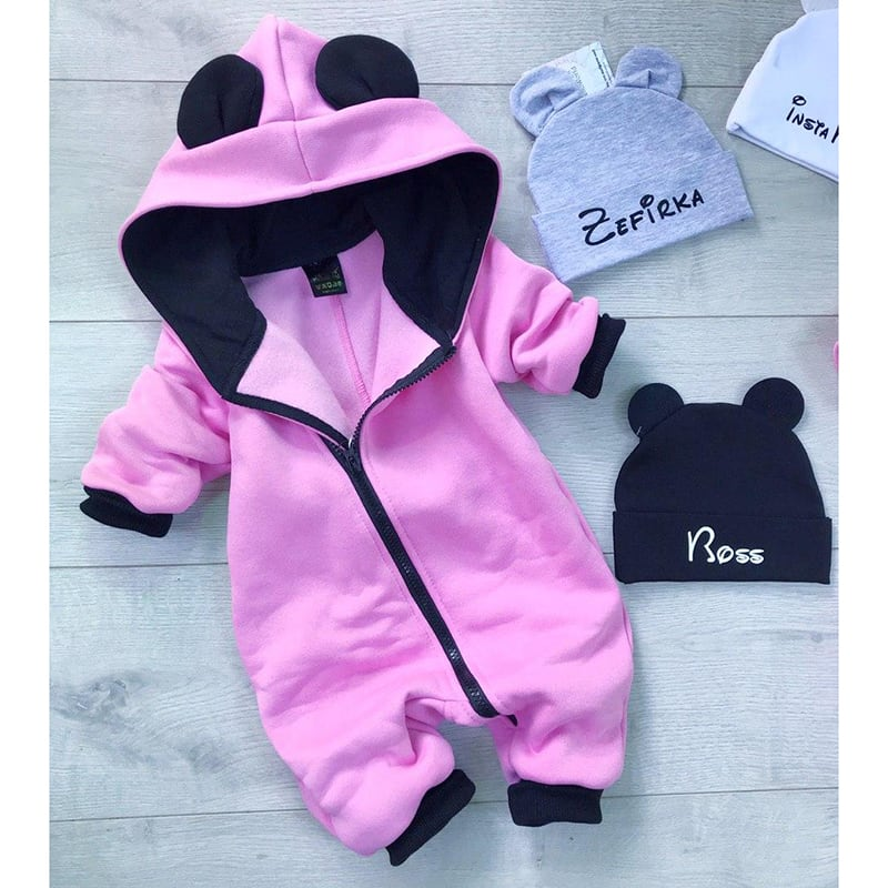 Дитячий комбінезон Minnie Mouse pink jersey