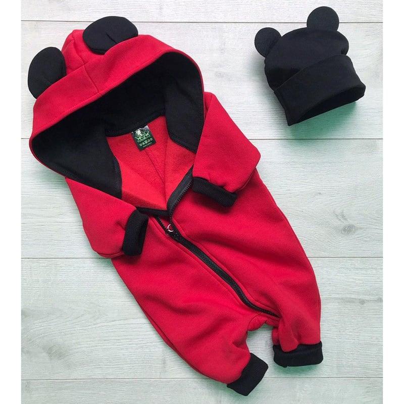 Комбінезон для новонароджених Mickey Mouse red jersey