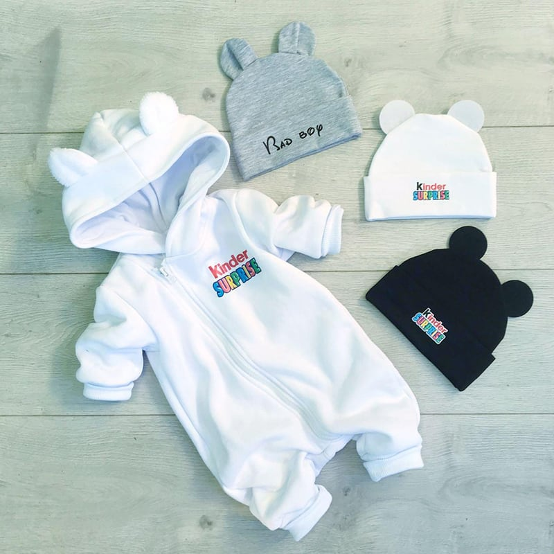 Дитячий трикотажний комбінезон Kinder Surprise white jersey
