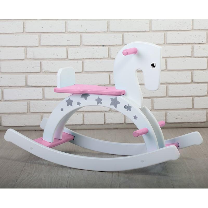 Лошадка-качалка для девочки Розовый Пони
