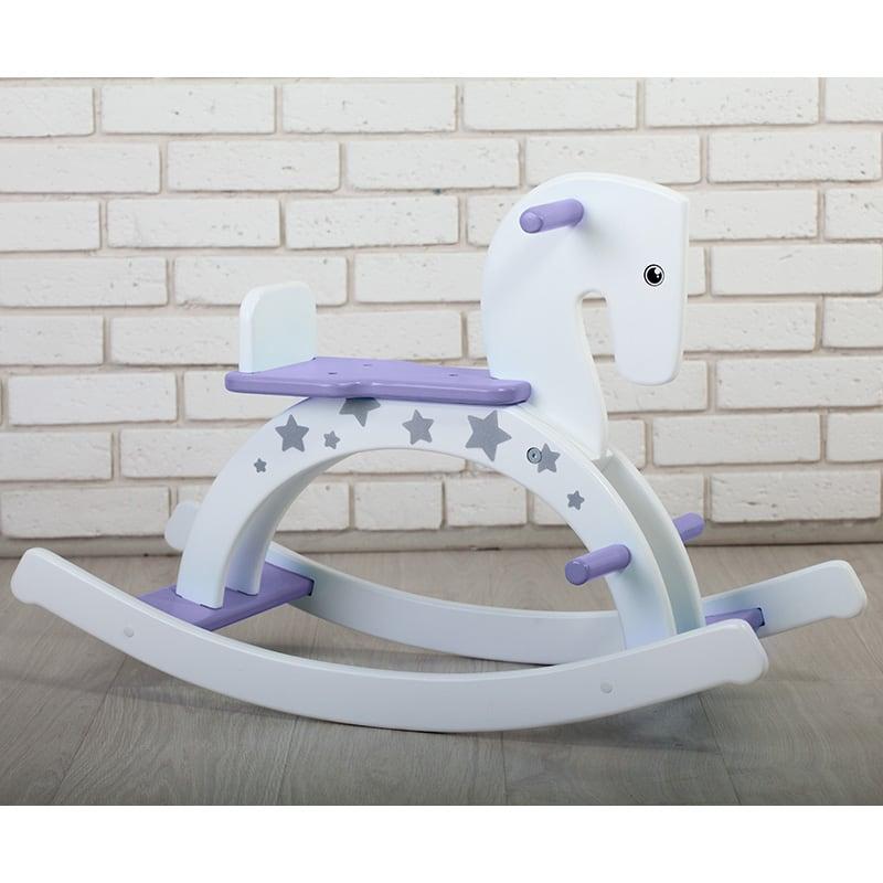 Детская лошадка качалка Пурпурный Пони