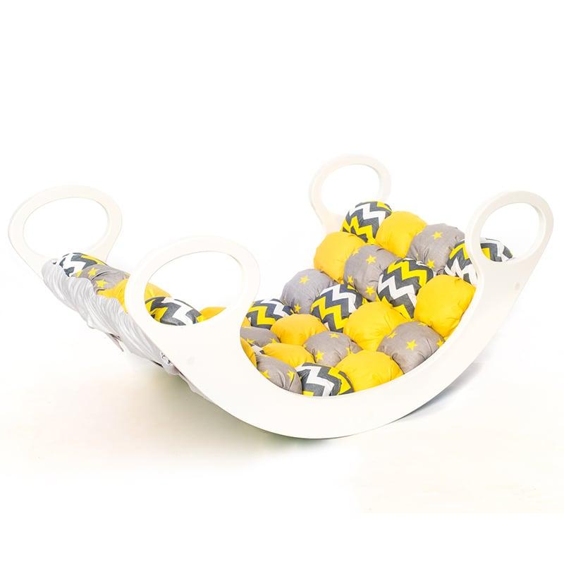 Кроватка-качалка детская Желтый Бон-бон мини