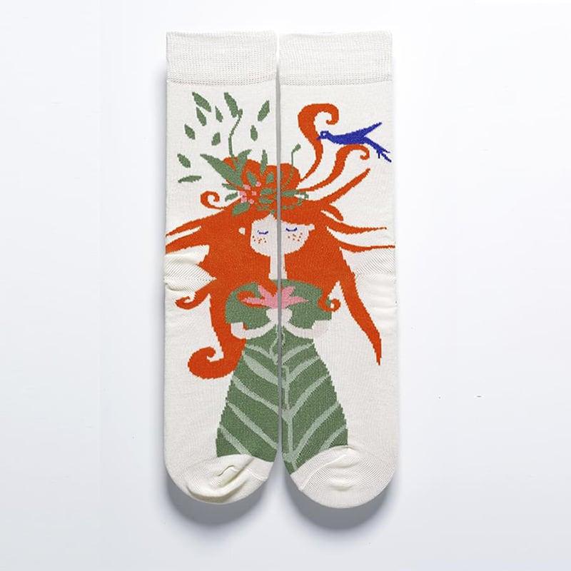 Жіночі шкарпетки в подарунковій упаковці Spring Motives