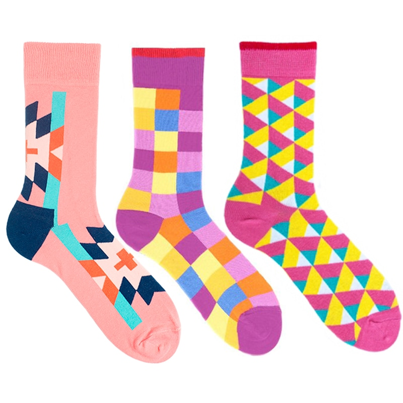 Яркие мужские носки Geometry
