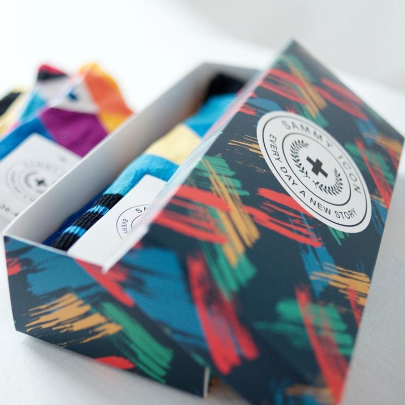 Модний брендовий подарунковий набір чоловічих шкарпеток Mini 2 Man