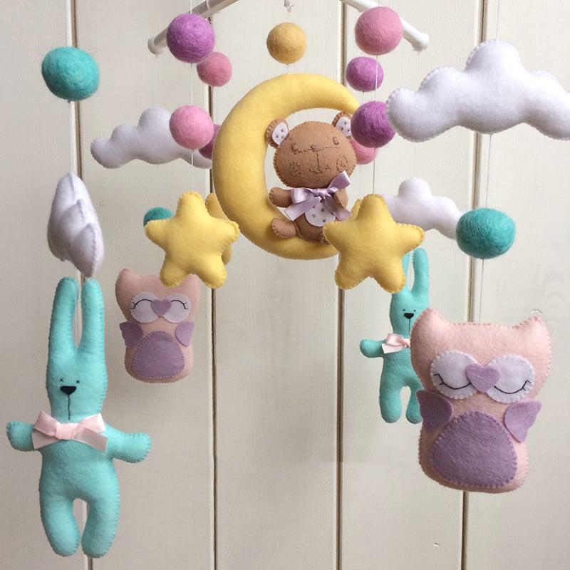 Мобиль новорожденному в подарок Сладкий Сон