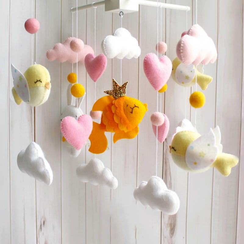 Мобиль handmade на детскую кроватку Рыбки