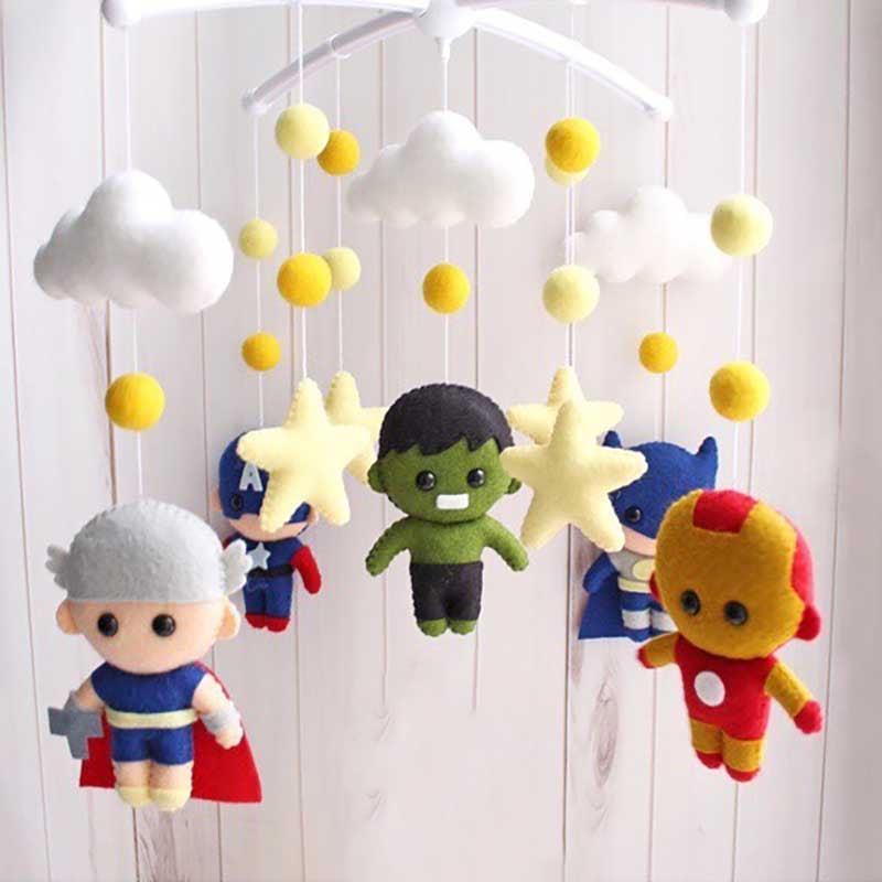 Мобіль на ліжечко хлопчикові Супергерої Марвел