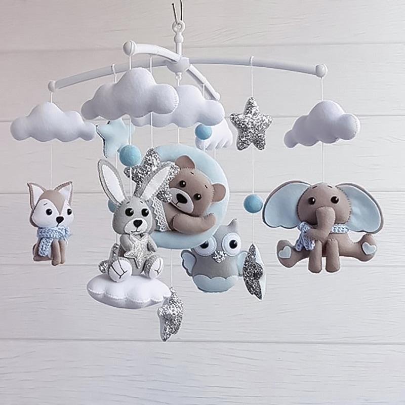 Мобіль дитячий на ліжечко хлопчикові Срібна Казка