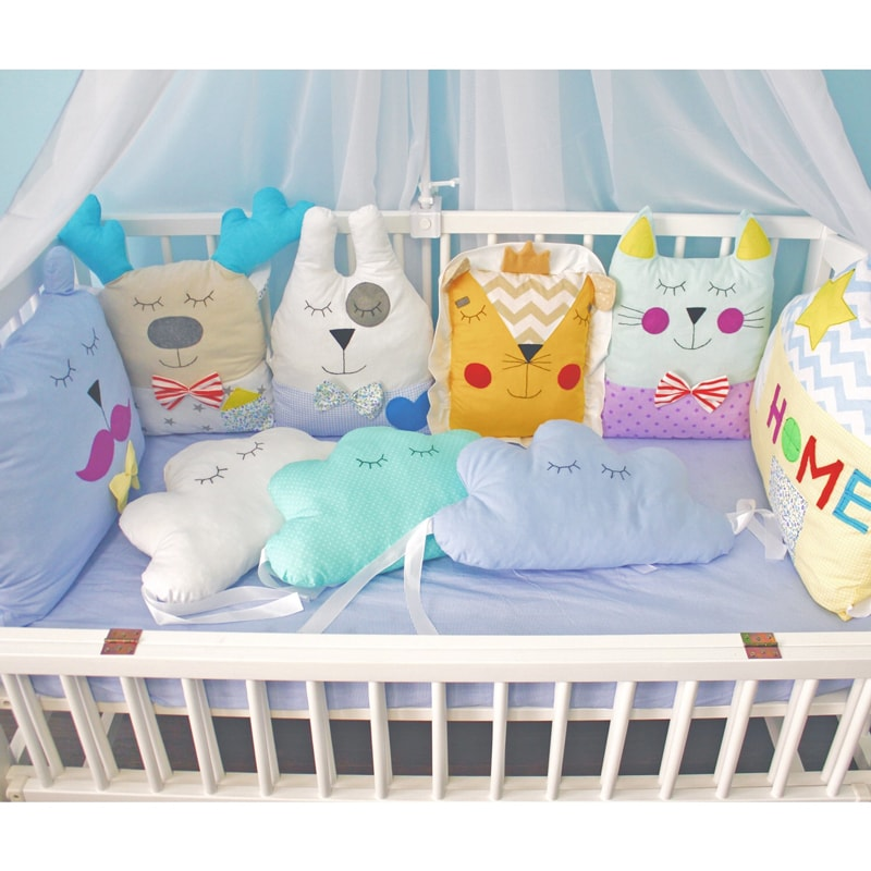 Бортики в подарок для новорожденного Симба