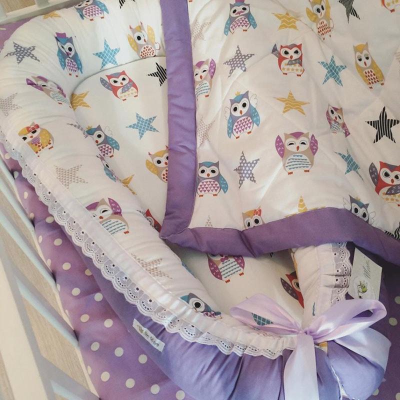 Кокон для новорожденного ручной работы Сова