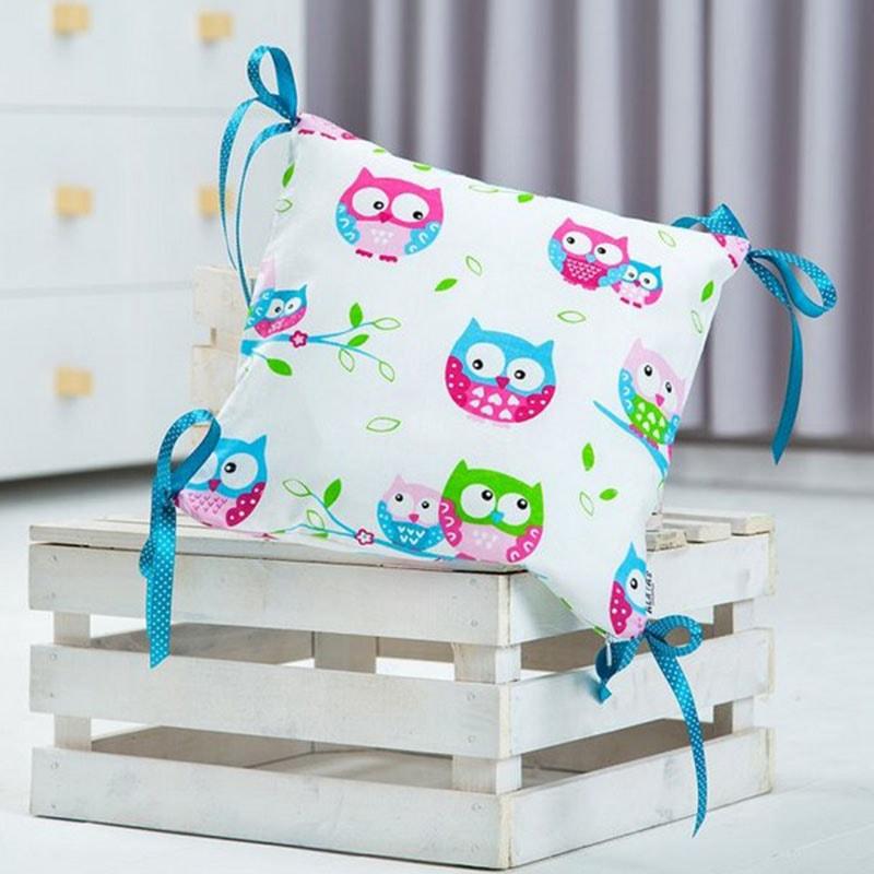 Подушка ручной работы для ребенка Сова белый