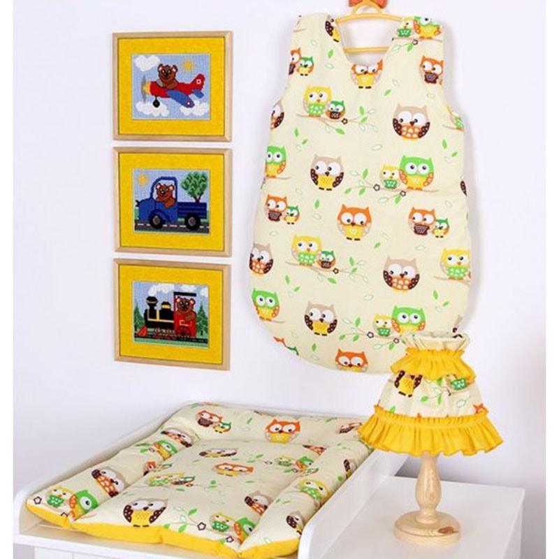 Комплект для новорожденного в подарок Сова желтый