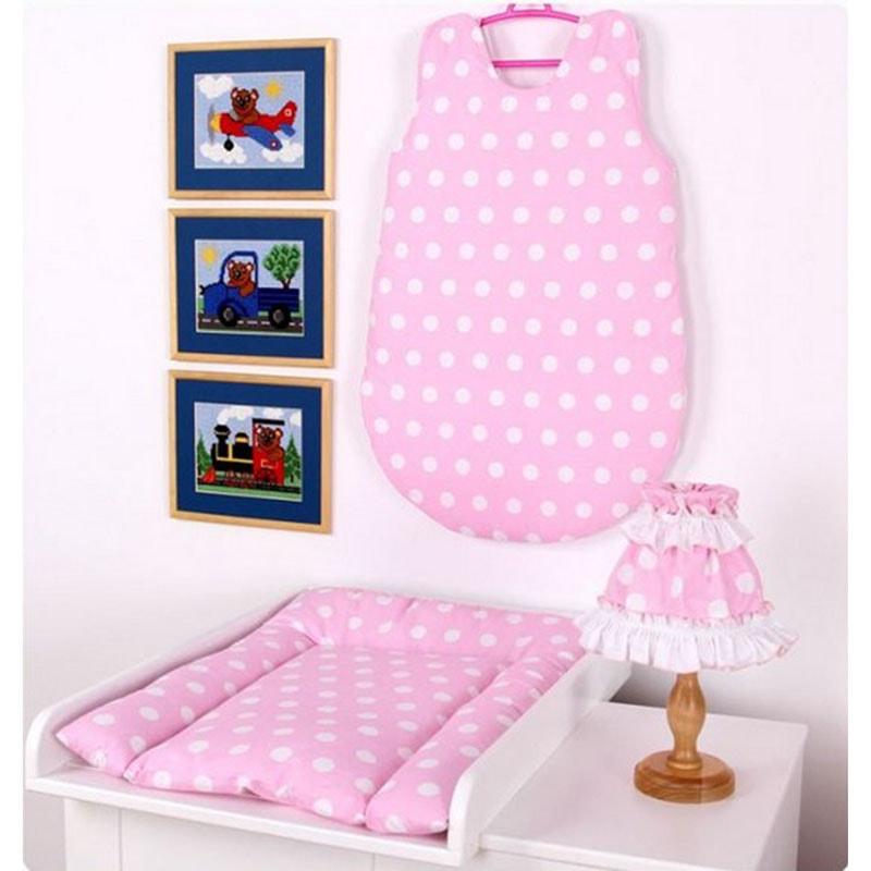 Комплект для новонародженого в подарунок рожевий Горошок