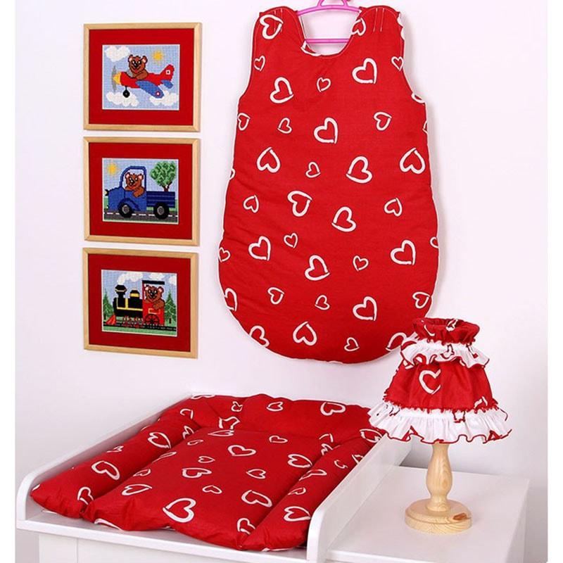 Комплект для новорожденного в подарок Сердечко красный