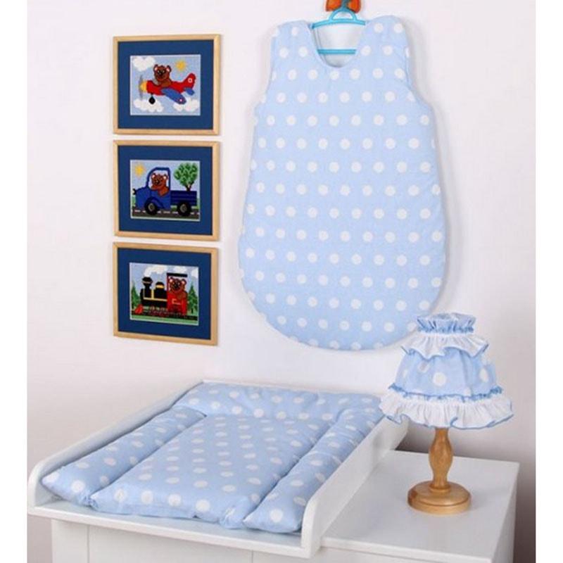 Комплект для новорожденного в подарок Горошек голубой