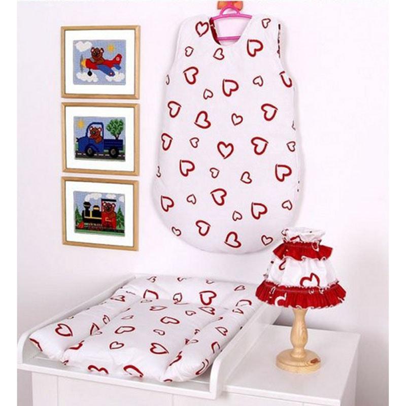 Комплект для новорожденного в подарок Сердечко белый