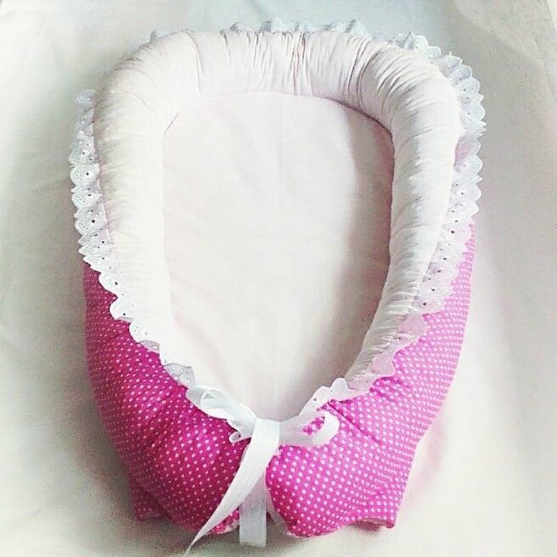 Кокон для новорожденной девочки в подарок Малиновый Горошек
