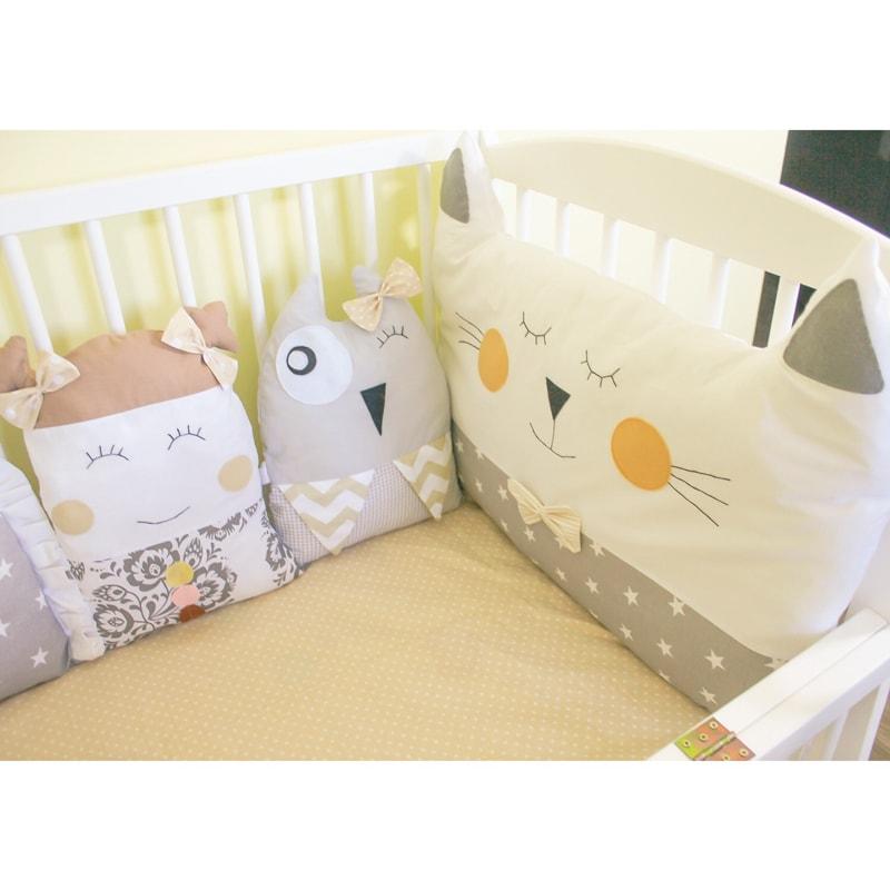 Бортики в кроватку новорожденному Веселые Зверята