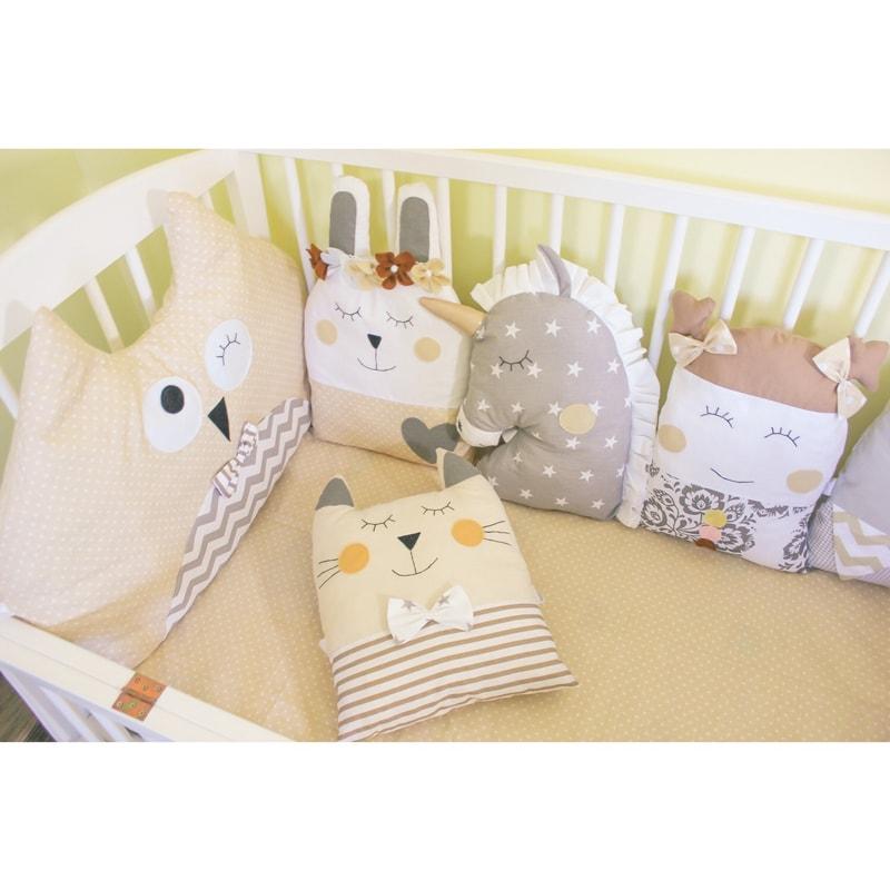 Бортики в ліжечко новонародженого Веселі Звірята