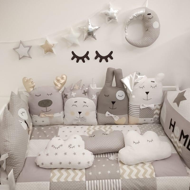 Бортики в кроватку для новорожденного в подарок Олень