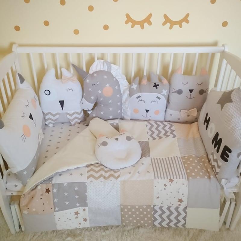 Борти-подушки Handmade в ліжечко для хлопчика