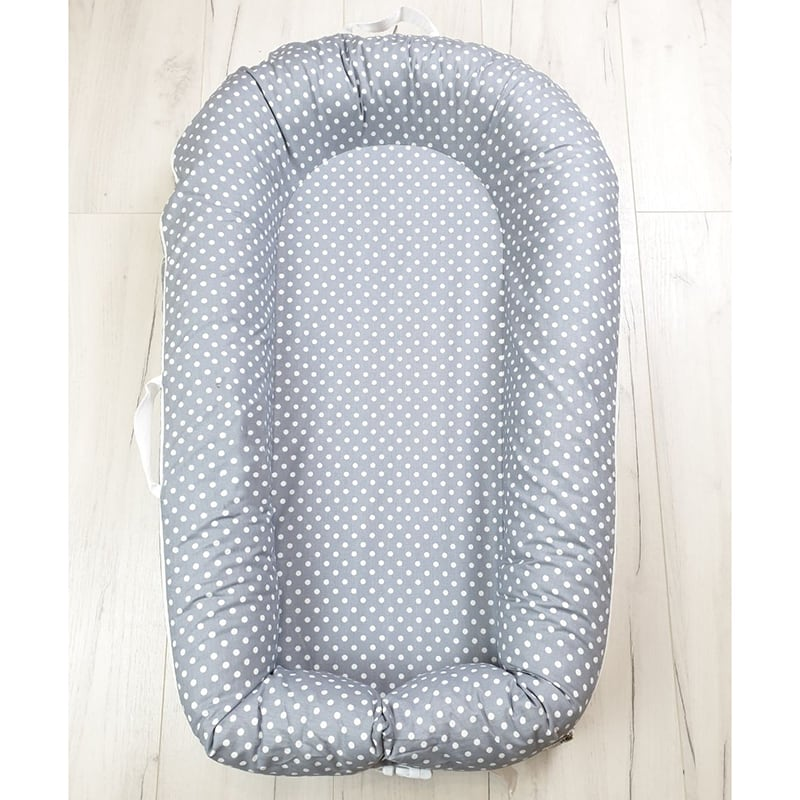 Кокон гнездышко для новорожденных Gray Pearl