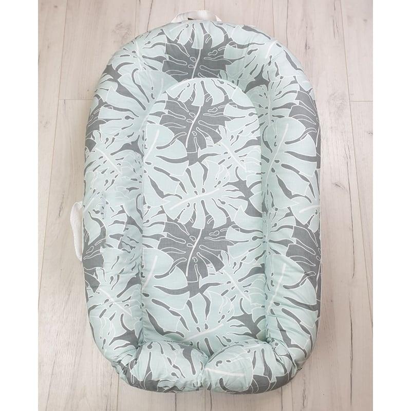 Кокон со съемным чехлом для новорожденных Ficus Pattern