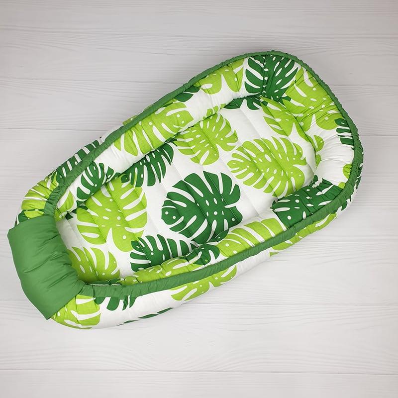 Кокон гнездышко для новорожденных Leaf Pattern