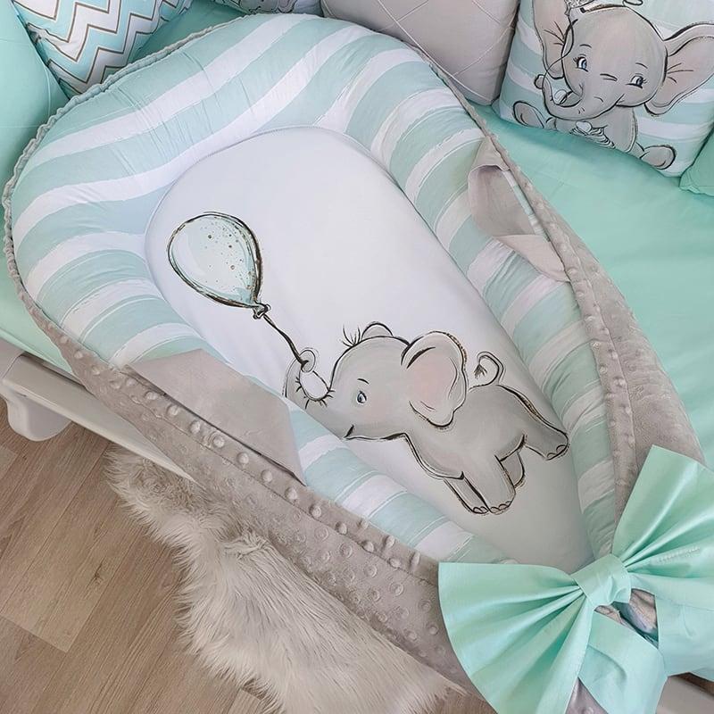 Кокон новорожденного Слоник с Воздушным Шаром