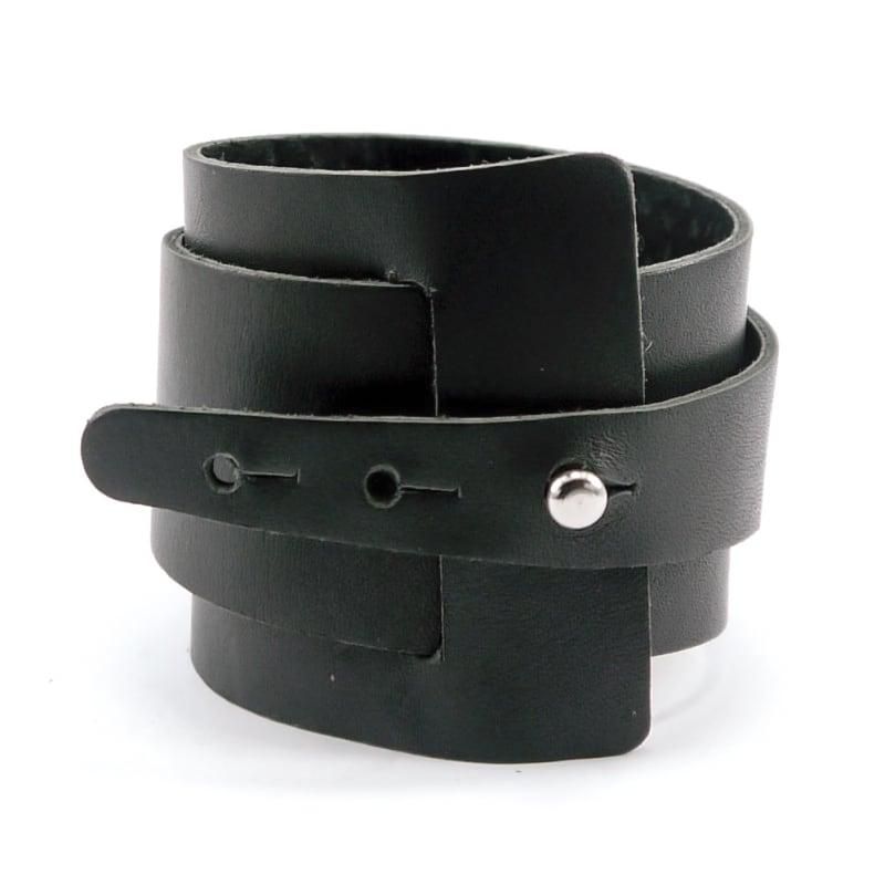 Шкіряний браслет чоловічий Нelix black leather