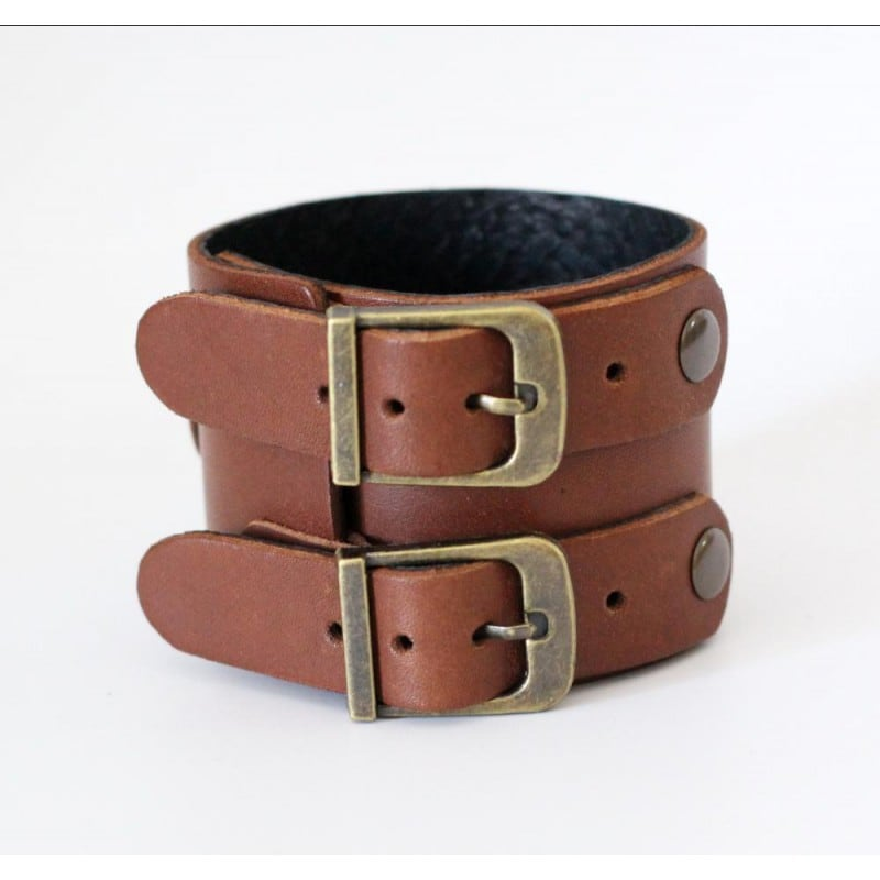 Чоловічий браслет Western Style brown leather