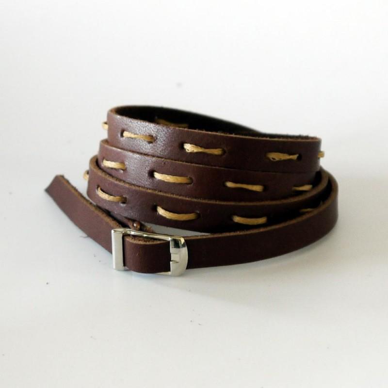 Шкіряний браслет Multi-strand black leather