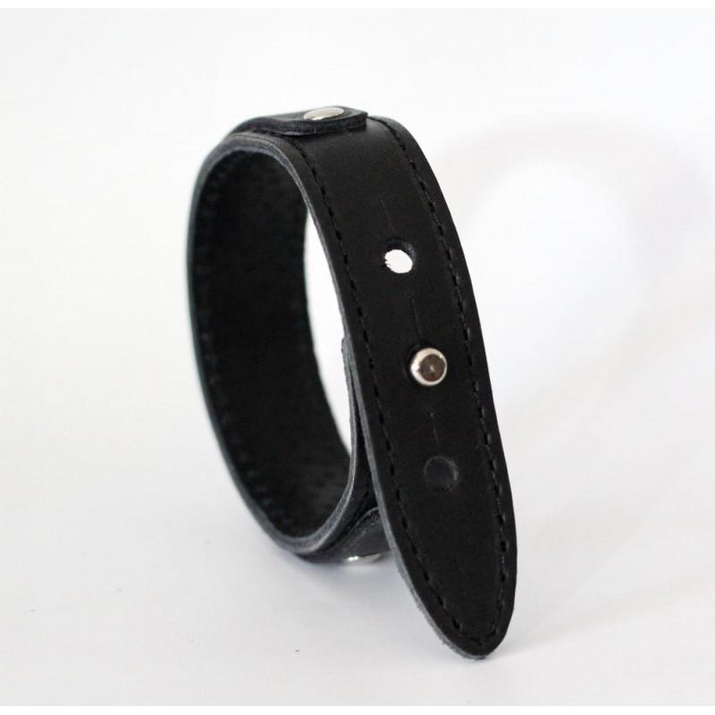 Кожаный браслет Wrist Belt black leather