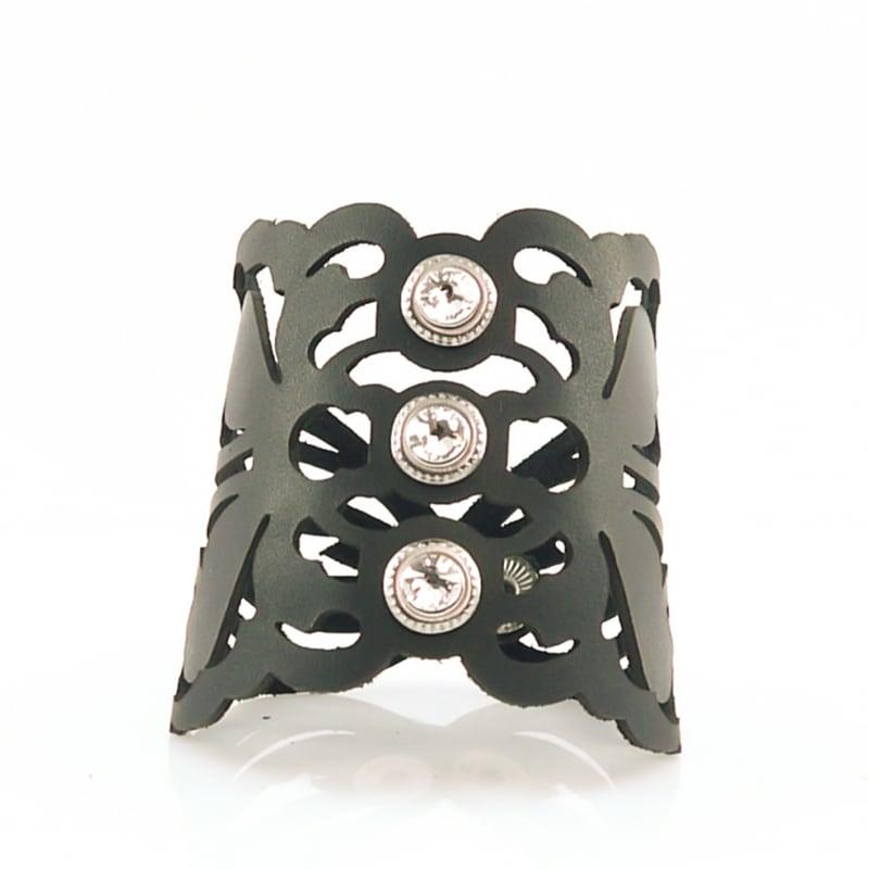 Кожаный браслет женский Florence black leather