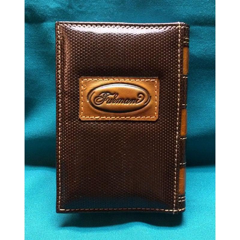 Ежедневник в подарок женщине Pansies brown leather