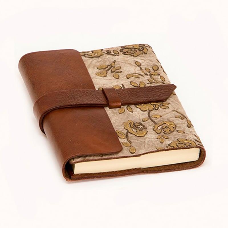 Блокнот в шкіряній обкладинці Brocade brown leather