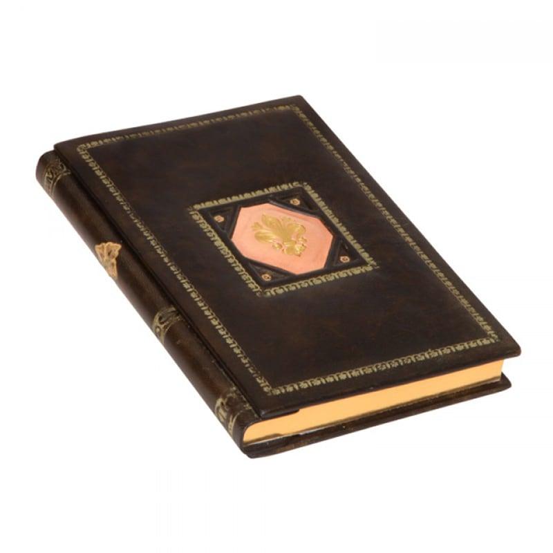 Ежедневник в кожаном переплете Сиенна brown leather