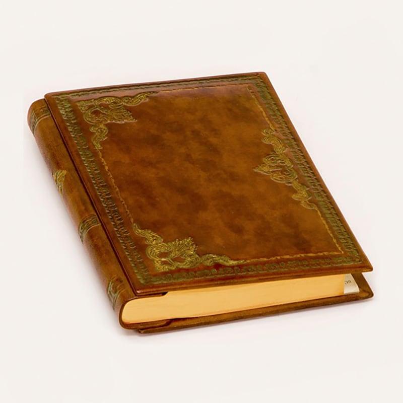 Записна книжка у шкіряній палітурці Florence brown leather
