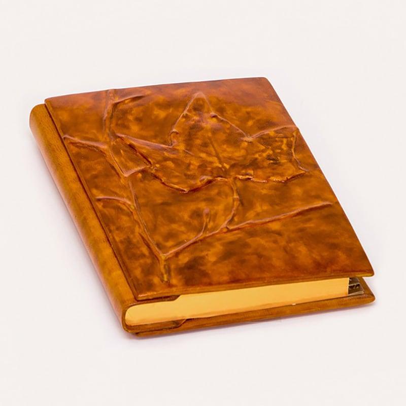 Щоденник в шкіряній палітурці Лист Клена brown leather