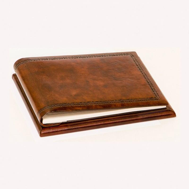 Блокнот шкіряний Класика brown leather