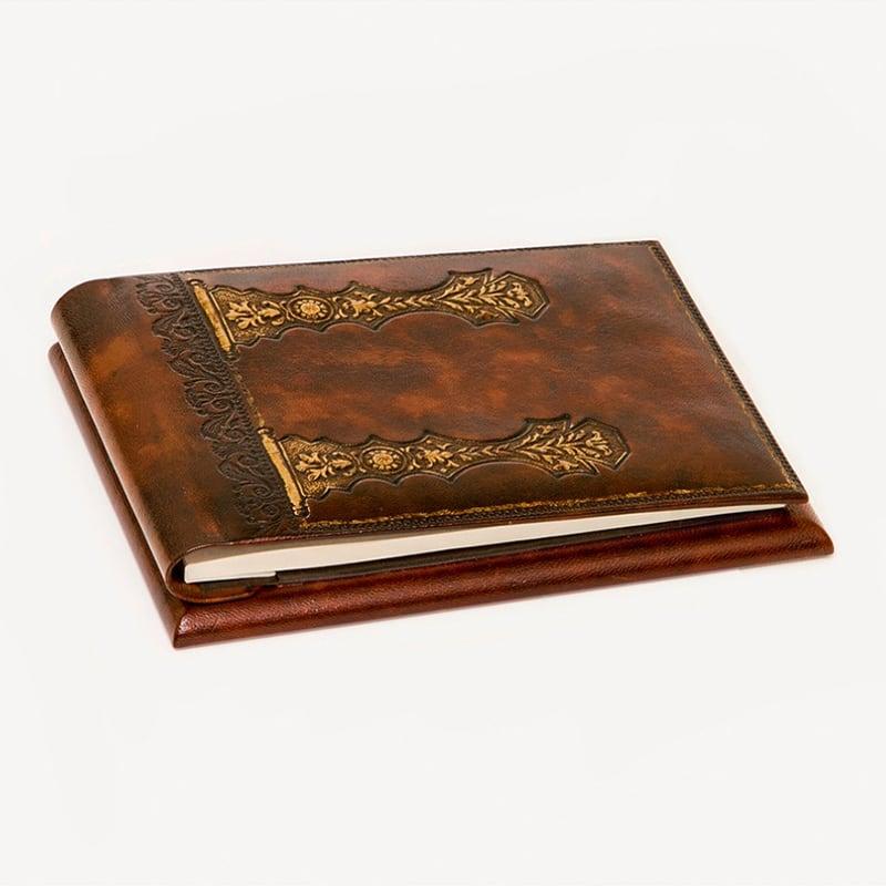 Блокнот в кожаной обложке Золотые Копья brown leather