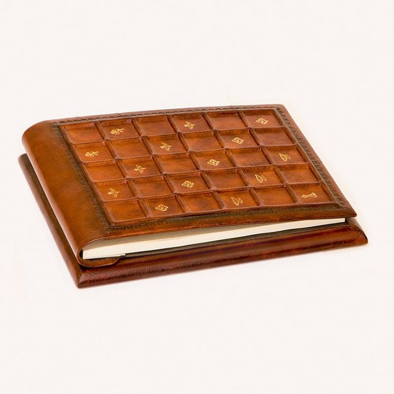 Блокнот в кожаной обложке Сиенская Мозаика brown leather