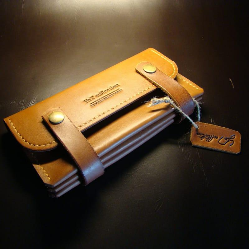 Жіночий шкіряний гаманець Brass leather