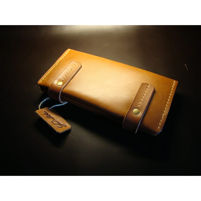 Женский кожаный кошелёк Brass leather