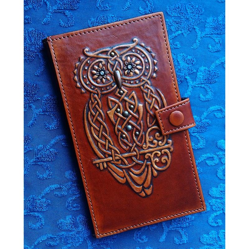 Портмоне женское в подарок MAGIC OWL brown leather
