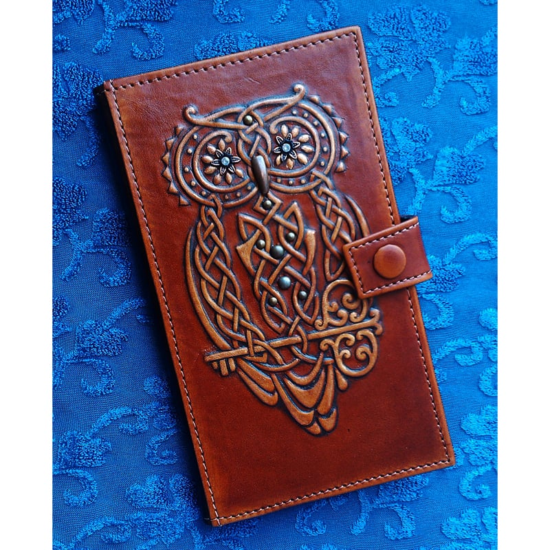 Жіноче Портмоне в подарунок MAGIC OWL brown leather